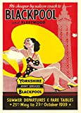 Vintage Travel BLACKPOOL & FLEETWOOD in Yorkshire c1939 250gsm Gloss ART CARD A3 Reproduction Poster