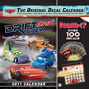Disney Pixar Cars The Original Decal Calendar!
