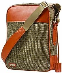 Hartmann Luggage Tweed Belting Vertical Cross-Body, Walnut Tweed, One Size