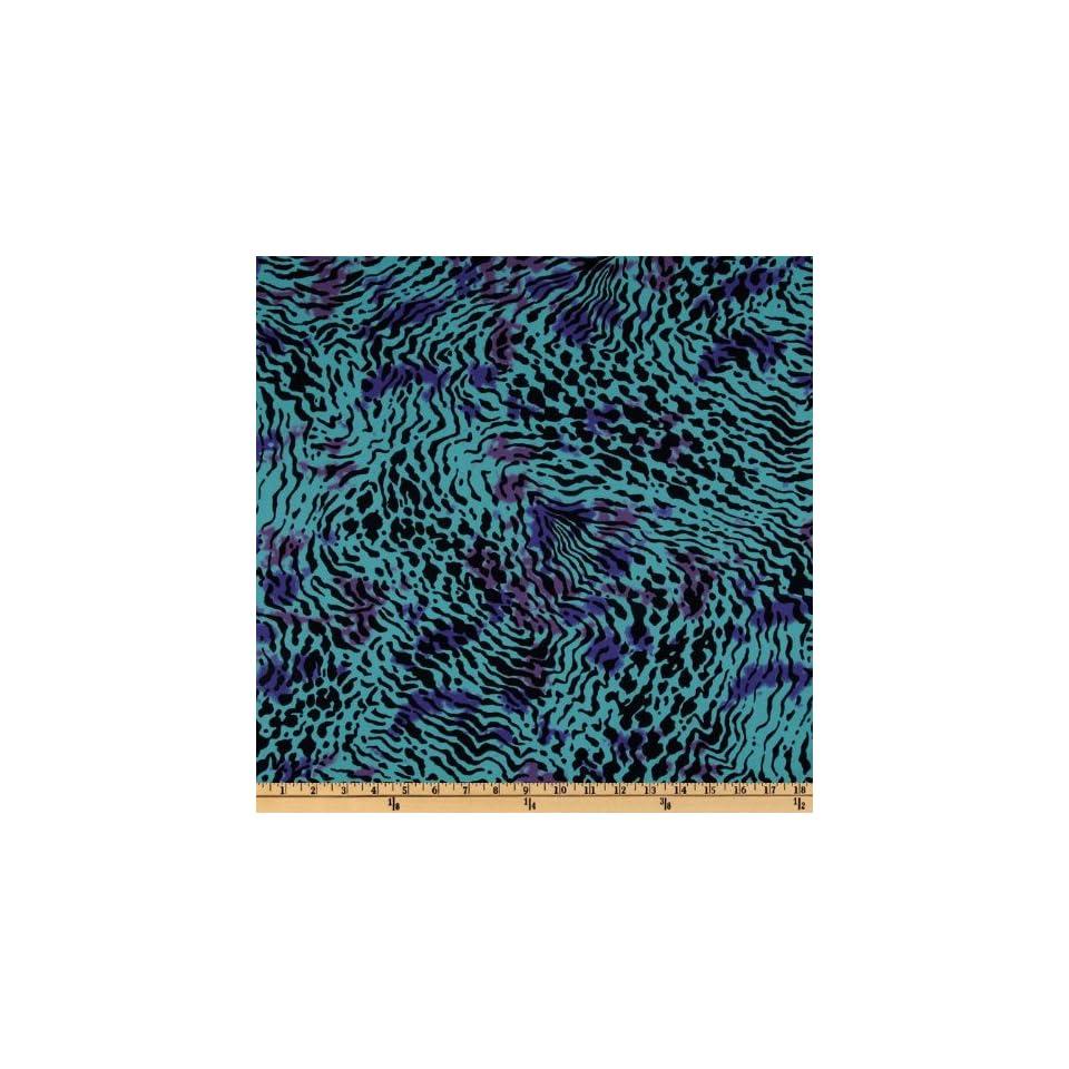 1b26537264 Animal Print Aqua Black Purple Fabric By The Yard Arts