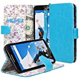 NEXUS 6 Case, MOTOROLA Nexus 6 Flip Case - E LV MOTOROLA Google Nexus 6 Case Deluxe PU Leather Folio Wallet Case...
