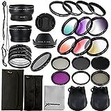 28 in 1 Kit : 52mm Wide Angle Lens + 52mm Precision Pro Digital Wide Converter + 4pz Ring Adapter + 52mm Close-up Lens Filters (+ 1 + 2 + 4 + 10) + 52mm ND Filter (ND2 + ND4 + ND8) + 52mm Neutral Density Filter + 6pcs gradual filter Set + UV Filter + CPL Filter + FLD Filter For Nikon D3X, D800, D700, D600, D300, D300S, D7100, D7000, D5200, D5100, D5000, D3200, D3100, D3000, D90, D80, D70, D60, D50, D40, Pentax K-5, K-50, K-30, LF131