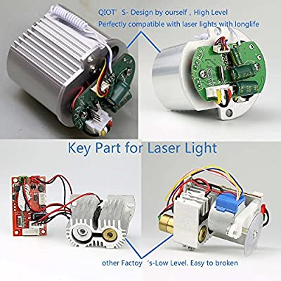 QIOT RG Color Christmas LED Landscape Laser Lights Projector with Smart Wireless Control and Time Setting for Christmas, Birthday, Halloween, Outdoor Party, and Outdoor Picnic