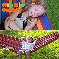 DC- PURE COTTON OUTDOOR HAMMOCK SWING FOR 2 PERSON.
