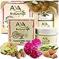 Clogged Pores Natural Cleansing Kit - Vegan Cleanser Face Wash Soap 3.4 oz and Facial Cream 1.7 oz Care - Shea, Olive, Jojoba, Tea Tree & Almond Oils Blend Set