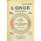 L'onde, 2e annee, n° 6, mars 1922, vannes automatiques a secteurs