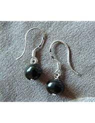 75% off Black Grade A Freshwater Pearl Drop Earrings. Free Postage.