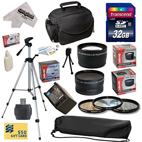 Ultimate Accessory Kit For Canon Hf S10 S11 S20 S21 S30 S100 G10 G20 G25 Hfs10 Hfs11 Hfs20 Hfs21 Hfs30 Hfs100 Hfg10 Hfg20 Hfg25 Xa10 Video Camera Camcorder Includes - 32Gb High-Speed Sdhc Card + Card Reader + Vivitar 2000 Mah Replacement Battery For Canon