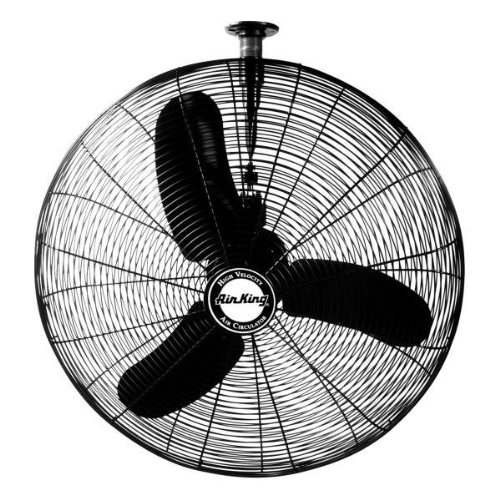 Air King 9374 1/3 HP Industrial Grade Oscillating Ceiling Mount Fan, 24-Inch