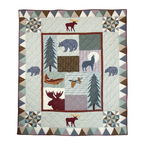 Patch Magic 50-Inch by 60-Inch Mountain Whispers Throw