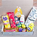Easter Buddies Treat Box - The BEST Easter Gift - Cadbury Mini Eggs, Mini Caramel & Crème Eggs, Galaxy Mini Egg, Smarties Chick, Milkbar Bunny, Kinder Figure, Crunchie Bar, Maltester Bunny - By Moreton Gifts