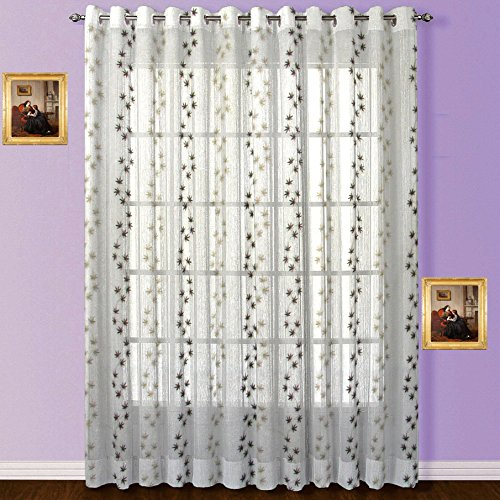 Fabutex Tissue embroidered shear window curtain