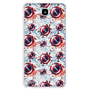 Marvel Civil War PBMARSAMGN30708 Captain America Back Cover for Samsung Galaxy Note 3 (Multicolor)