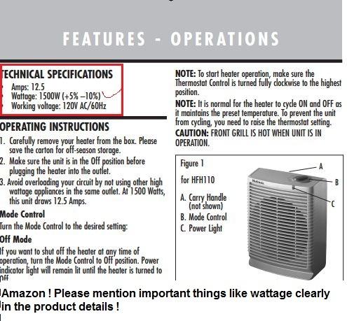 Amazon Com Holmes Desktop Heater With Comfort Control