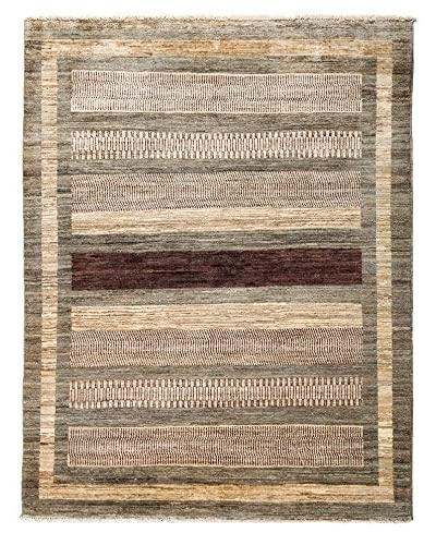 Darya Rugs Traditional Oriental Rug, Brown, 5′ x 6′ 4″