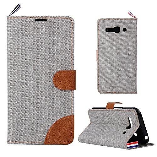 Cozy Hut Pour Alcatel One Touch Pop C9 Housse Coque Etui Portefeuille en Cuir PU, Cow-Boy Style Couverture Case Cover avec des Fentes de Cartes /