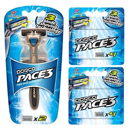 dorco-pace-3-razor-3-blade-technology-manual-razor-for-men-safe-sensitive-shaving-system-10-blades-1