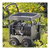 NEW Gray Durable Resin Construction w Steel Core Reinforcement Hose Reel Cart