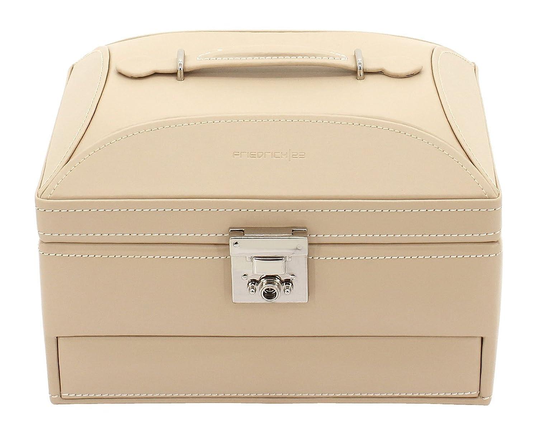 Friedrich|23 Damen-Schmuckkasten Cordoba Leder beige – 26392-8 günstig bestellen