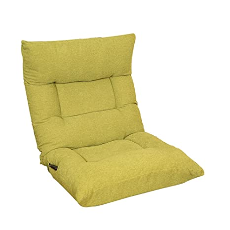 Sofá individual / cama recortada / sofá cama / silla de dormitorio ( Color : Verde )