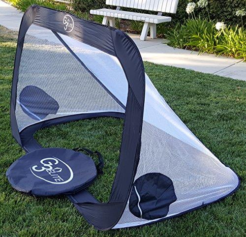 Soccer Backyard Nets : Soccer Goal Pair with Carry Case, Pop Up Foldable Net Set, Backyard