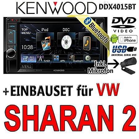 VW sharan 2 dDX4015BT-kenwood autoradio multimédia 2 dIN avec kit de montage
