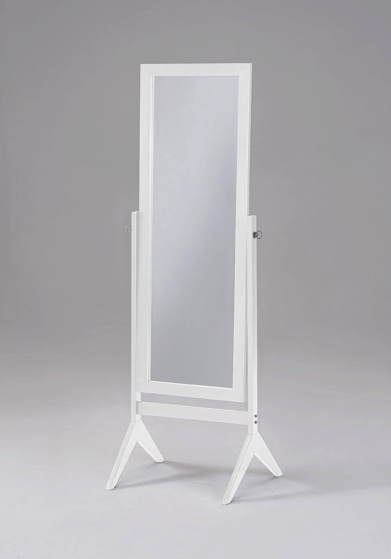 white full body floor mirror framed wooden cheval hardwood rubberwood decor home