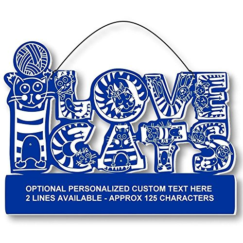 Cool Cats Crazy Alphabet-Cat Laser-Etched 3-In-1 Plaques Ver1 Cat Lady Blue front-374371