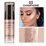 Clearance Sale!UMFun Liquid Glow Highlighter Lip Foundation Makeup Shimmer Cream Facial Bronzer Cosmetic (C) (Color: C, Tamaño: 6ml/0.2 fl.oz)