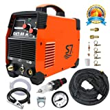 Plasma Cutter, 50A Inverter AC-DC IGBT Dual Voltage 110/220V Cut50 Professional Fashion Luxury Portable Welding Machine With Intelligent Digital Display Free Accessories (Color: Easy Quick Metal Orange Cutter)