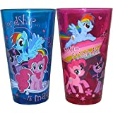 Silver Buffalo MLP031P3 Hasbro My Little Pony Friendship is Magic Pint Glass Set, 2-Pack