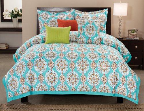 Luxury Home 6-Piece Seraphina Cotton Comforter Set, Queen front-910816