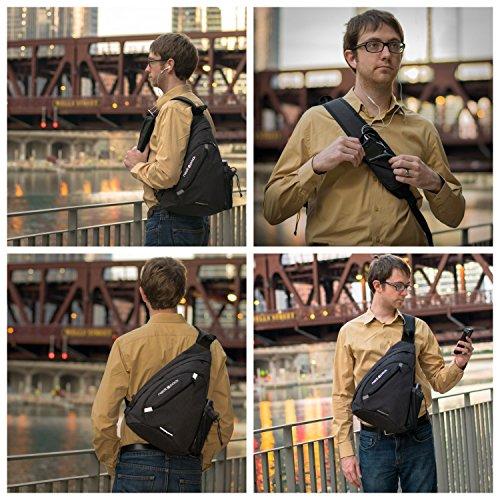 Versatile Canvas Sling Bag / Travel Backpack | Wear Over Shoulder or Crossbody