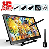 Ugee UG-2150 21.5 Inches LED Graphics Monitor IPS Pen Display HD Resolution Drawing Monitor Dual Monitor with Adjustable Stand, 2 Rechargeable Pens, 1 Drawing Glove, 1 Screen Protector