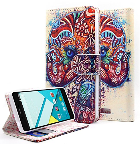 NageBee Dual Use PU Leather Flip Wallet Case for BLU Studio Energy D810L - Wallet Cute Elephants (Blu Energy Studio Case compare prices)