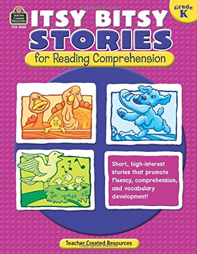 Itsy Bitsy Stories for Reading Comprehension, Grade K