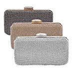 Classic Crystal Hard Case Evening Clutch Bag