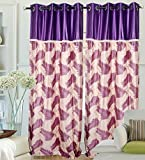 "Hargunz Eyelet Candy Chain Polyester Door Curtains - 84""x48"" , Pack of 1 Curtain, Purple (KS019-1-2)"