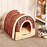 JPtuotu Multifuncional plegable Cama Cómodo Casa Para Perro gato Mascota