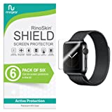 Apple Watch 38mm Screen Protector (Series 3 2 1) [6-Pack] RinoGear Case Friendly iWatch Screen Protector for Apple Watch Series 3 38mm Accessory Full Coverage Clear Film