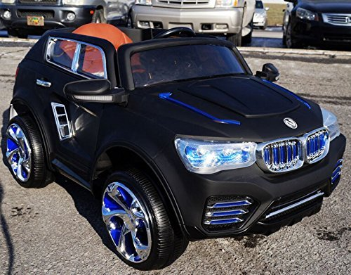 Ride on Kids Electric Car BMW X5 (style F0000) With Remote Control / Dull Black (Bmw X5 For Kids compare prices)
