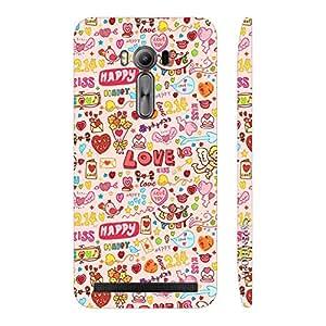 Enthopia Designer Hardshell Case Love Kiss Cupid Back Cover for Asus Zenfone 2 Laser ZE500KL