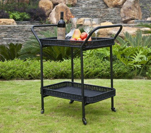 Wicker Lane ORI002-D Outdoor Black Wicker Patio
