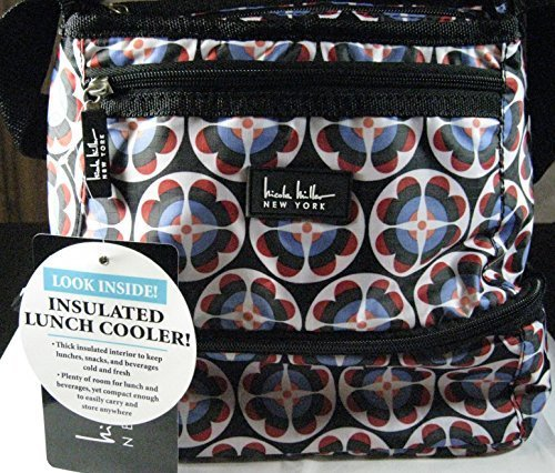 nicole-miller-of-new-york-insulated-lunch-cooler-circle-flower-black-10-lunch-tote