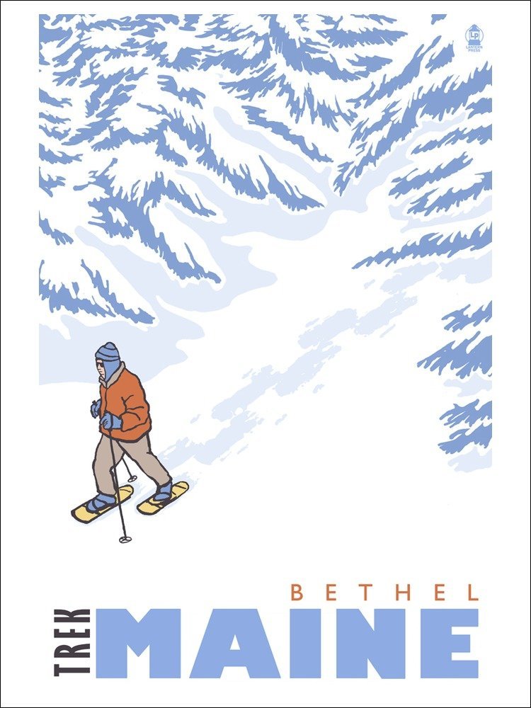 Bethel, Maine Travel Poster