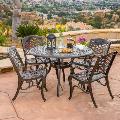 Covington Outdoor 5pcs Cast Aluminum Dining Set 0