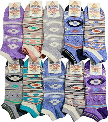 【靴下 メンズ】 オシャレ男子にピッタリのネイティブ柄10足セット 【ショートソックス】【メンズソックス】