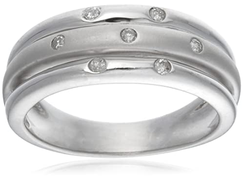 18ct White Gold AMR44796 Ladies 0.10ct Diamond Band Ring