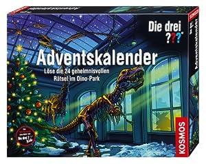 KOSMOS 631123 Die drei ??? Adventskalender - Rtsel im Dino-Park