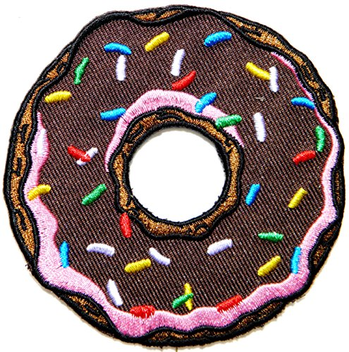 DONUT Chocolate Sweet Candy Cooking Kid Baby Jacket T-shirt Patch Sew Iron on Embroidered Applique Sign Badge Costum Gift (Kids Cooking Stickers compare prices)